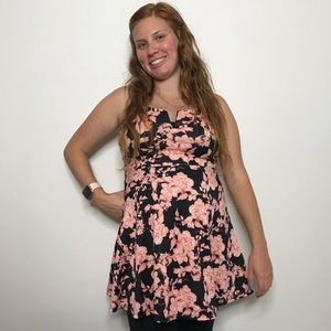 Charlotte Russe Beautiful Strapless Floral Top